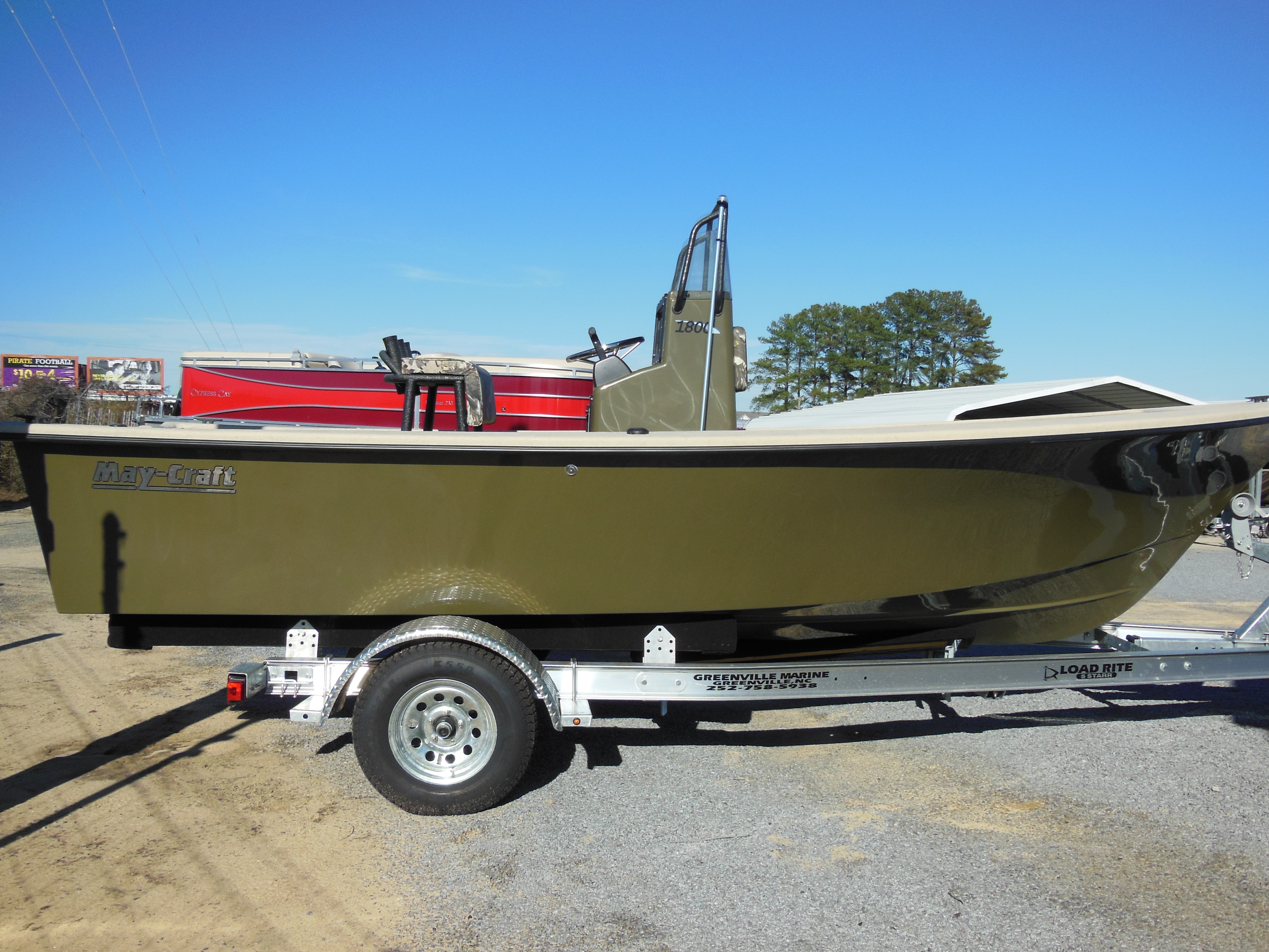 Maycraft 1800cc duck boat special f115hp yamaha trl for Craft stores greenville nc